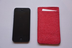 iPhone フェルトケース(color:pink)