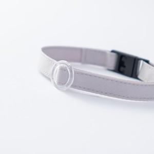 【猫にやさしい布首輪】ライトグレー 軽量3g やわらか 安全 シンプル ペットシッター考案