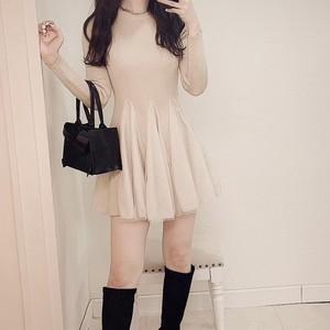 beige tulle dress