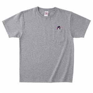 ちらっとエレン胸ポケットTシャツ(グレー)