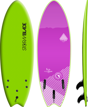 Storm Blade 5ft6 Swallow Tail Surfboard / Apple Green