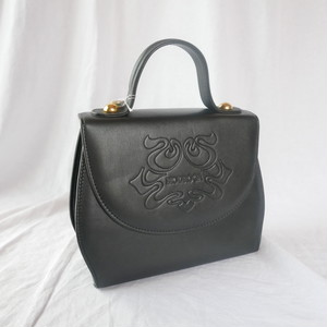 Italy Black Leather Hand Bag