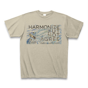 Tシャツ /HARMONIZE BUT NOT AGREE / Cafe au Label / Color [Silver Gray]