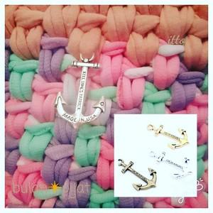 イカリ コンチョ パーツ 手編み ズパゲッティのポイントに!アクセのポイント
