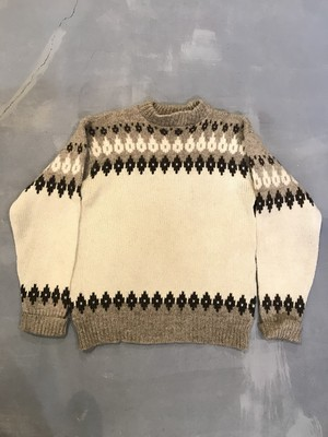 SCANDIA Nordic Patterned Sweater / Made in DENMARK [H-88]