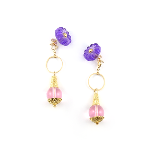 "【2way】 flower glass_pierce ""purple rain"" a002"