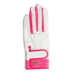 Elegant Golf Glove white-fuchsia < 左手 >