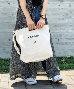 〈KANGOL/カンゴール〉 キャンバス ショルダー トートバッグ
