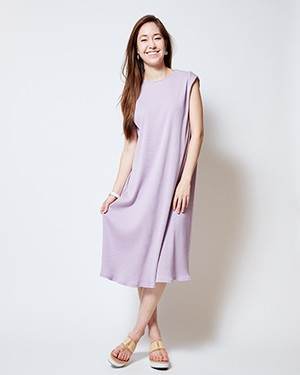 ULTRA RIB SWANKY TYOCITY DRESS/ANTIQUE VIOLET