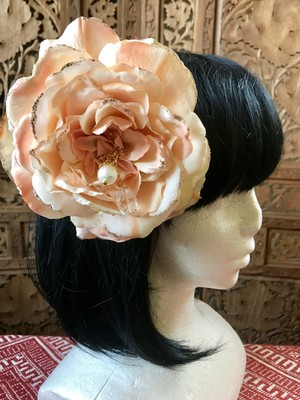 Flower hair ornament-Cream1