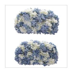ブルー紫陽花の高砂装花(約W40㎝×2個セット)メインテーブル・ウェルカムスペースに最適