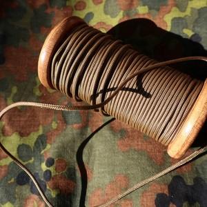 細めのパラコード 靴紐 (ブラウン) 丸紐 2.4mm