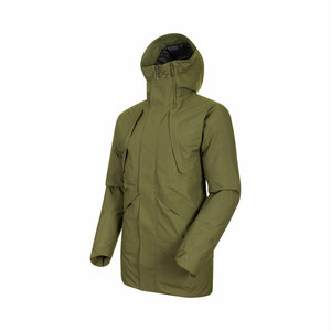 【MAMMUT】Delta X - ZUN HS Thermo Hooded Parka AF Men:カーキiguana
