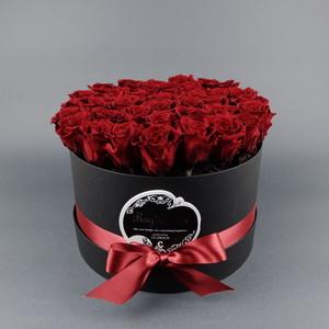『Coffret de Rose (コフレ・ドゥ・ローズ)』レッド-Size L (直径 約 22cm  高さ 約16cm  バラ本数 約40本)