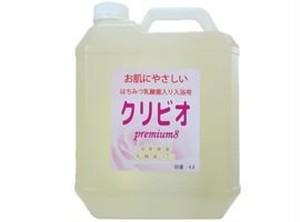 ☆旧ラベル☆国産はちみつ乳酸菌入り 入浴用クリビオpremium8 4L