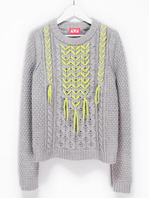 リメイク編み込みセーター(lady's)