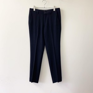 EMPORIO ARMANI サマーウール スラックス ブラック イタリア製 メンズ 古着