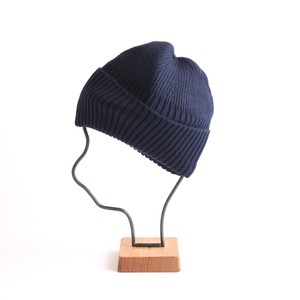 mature ha./long rib knit cap navy