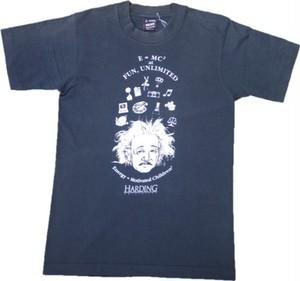 80's FRUIT OF THE LOOM BEST アインシュタインPrint T-Shirts(黒)