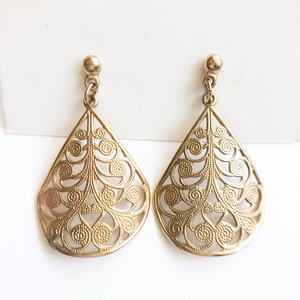 gold filigree dangle pierce[p-651]
