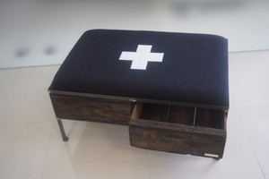 品番UEMW-118  2drawer ottoman[wide/European military blanket]