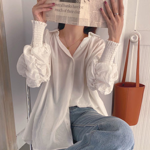 ギャザーシアーシャツ RR024