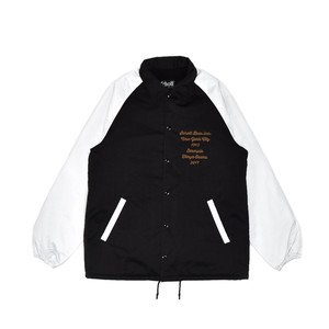 EXAMPLE x SCHOTT CIRCLE EMBRODIERY NYLON JACKET / BLACKxWHITE