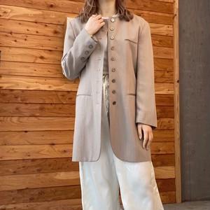 open collar long jacket