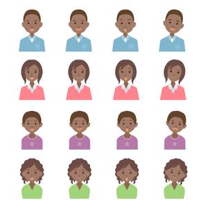 フラット 家族 人々 黒人