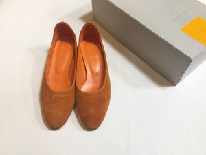 "MAISON EUREKA  "" SOFT SLIP ON SHOES  "" SUEDE ORANGE"