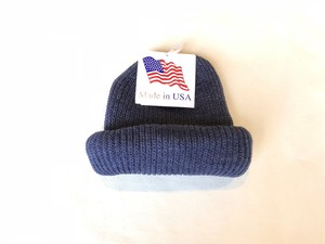 KNIT CAP MADE IN USA - DENIM HETHER