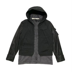 ILL IT - CROSS DOT 2WAY COAT (BLACK) -