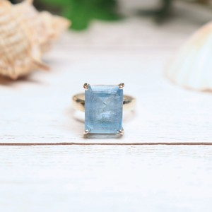 Gem Ring(Aquamarine : square)