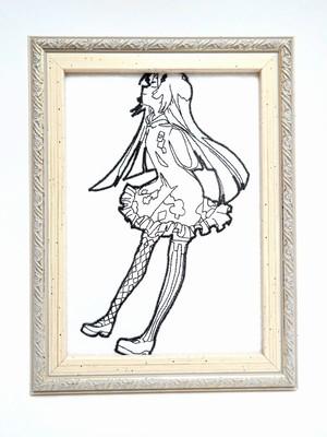 キャラ縫い額装刺繍 王女シャッフル「子供の頃の王女」