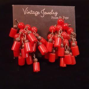 Vintage plastic beads earrings ヴィンテージプラスチックビーズイヤリング