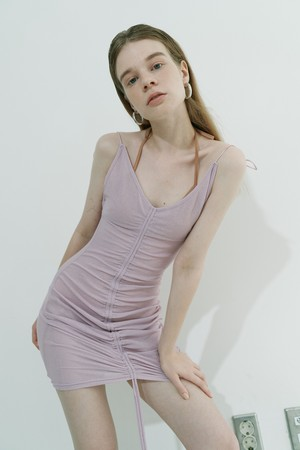 String see-through dress / Purple