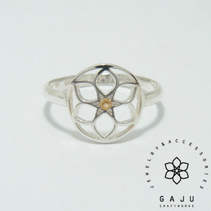 gajuvana ring (circle・シトリン)