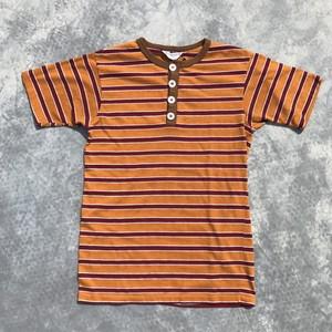60's TOWNCRAFT タウンクラフト マルチボーダー ヘンリーネックTシャツ オレンジ Pennys Mサイズ 希少 ヴィンテージ