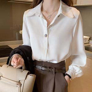 【トップス】シフォン新作ゆったりファッション長袖シャツ