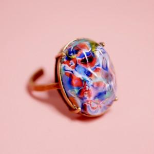 カラフルバロックガラス ヴィンテージガラスリング(指輪)