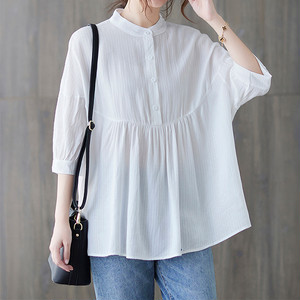 Loose Solid Color Shirt T662