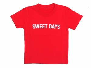 """SWEET DAYS""Kids Tee RED  18SS-SPOT-FS-09"
