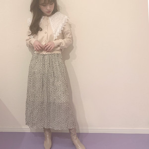 leopard dot skirt (S19-03026K)