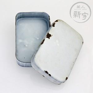 昭和初期 ホーローの弁当箱(白)