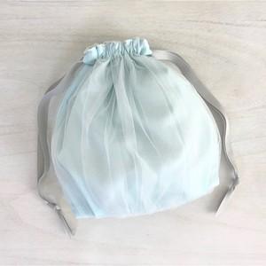 オーバーチュール ギャザー巾着 シャーベットブルー