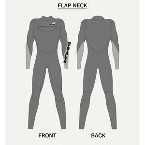 【セミオーダー】ウェットスーツ ジャージフル3mm フラップネック
