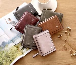レディースファッション 財布 カードケース 小銭いれ かわいい おしゃれ スエード カジュアル シンプル 小物 折りたたみ財布★02880