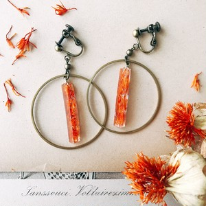 Mosaic earrings [orange]