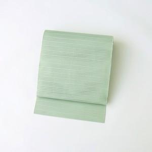 2209 夏物◆絽綴れ名古屋帯(グリーン)