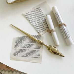 brass paper knif / ブラス ペーパーナイフ アンティーク調 オブジェ イタリア 雑貨 韓国 北欧